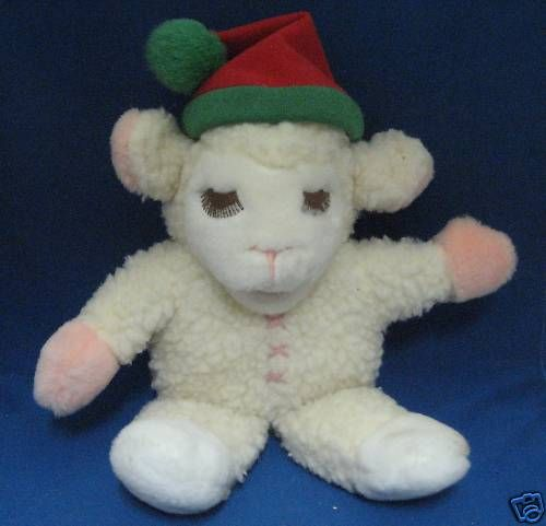 Lamb Chop Shari Lewis Chrismas Plush Hand Puppe Avon