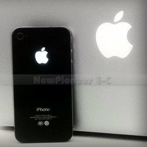 White Black Luminescent LED Light Mod Kit Glowing Logo Case for iPhone
