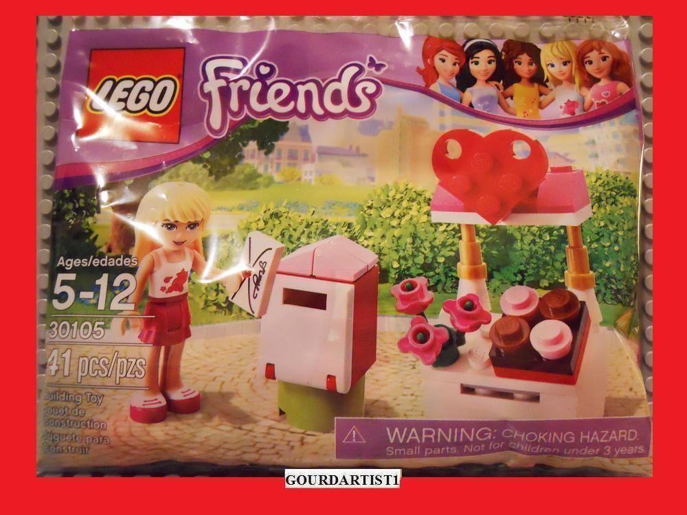 LEGO FRIENDS 30105 NEW VALENTINES DAY SET STEPHANIE MAIL BOX HEART