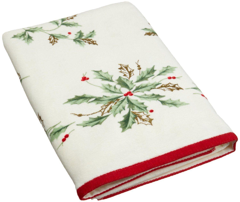 20p Lenox Christmas Holiday Set Shower Curtain Hooks 1bath 2hand