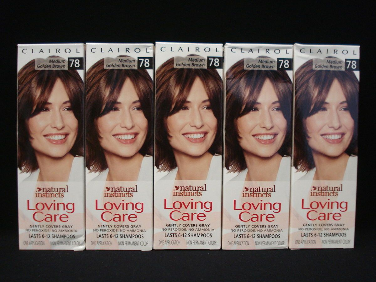 Clairol Natural Instincts Loving Care Hair Color 78 Medium Golden