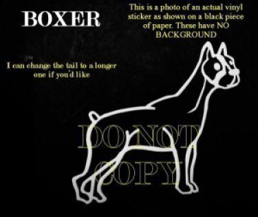 BOXER DOG CAR WINDOW DECAL Sticker for Car Laptop Phone CUTE stick