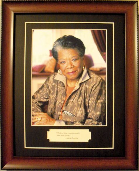 Maya Angelou African American Author Poet Quote Framed
