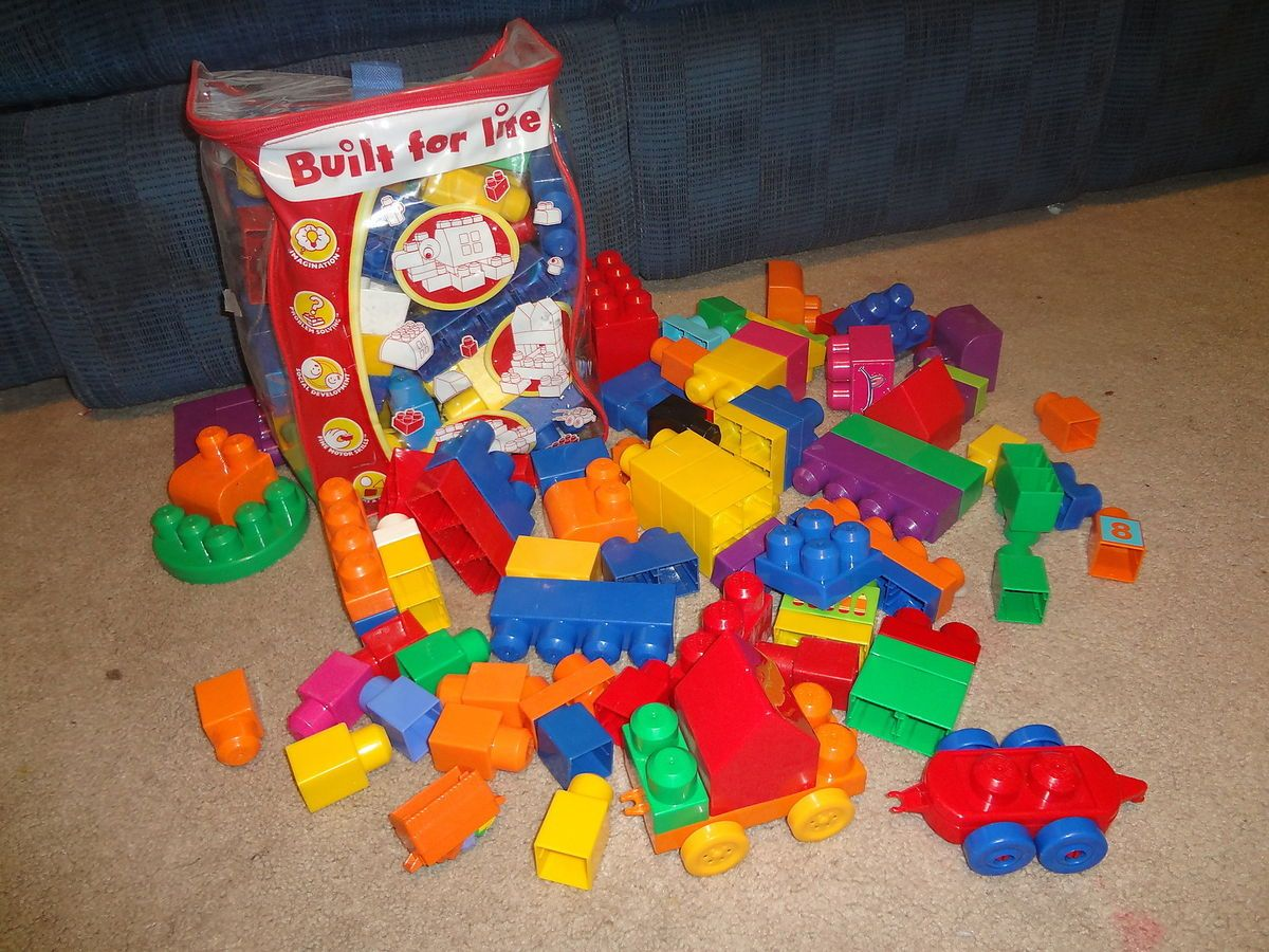 Huge Lot of Lego Mega Blocks Toys