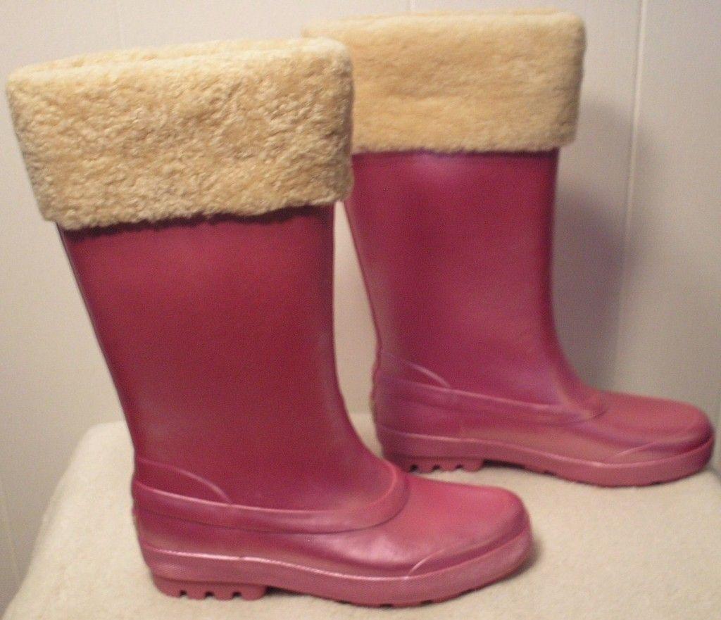 New UGG Rain Snow Boots Millcreek Misty Rose Womens Size 7