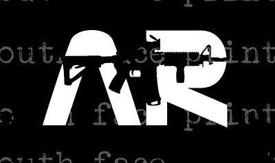 AR 15 Semi Auto 13 Glock AK Gun Safe hunting gun decal/sticker THE