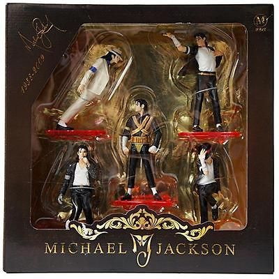 Collectibles 5 FIGURE set MICHAEL JACKSON STATUE DOLL FOREVER COOL