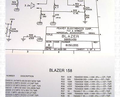 Peavey blazer 158 amplifier parts list and schematic publicscrutiny Gallery
