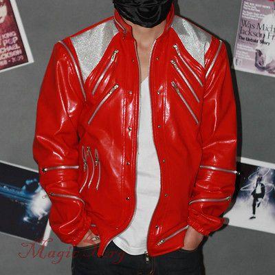 Michael Jackson Beat It Jacket with 26 Zippers MJ Costume replica