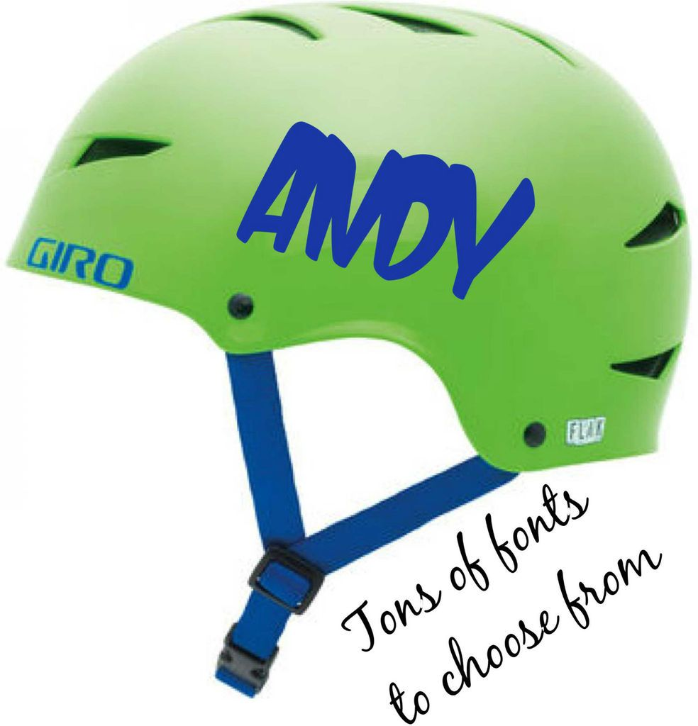 NAME CHILDRENS KIDS BMX Bike Scooter Skateboard Helmet Stickers