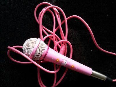 Hello Kitty Microphone NEW kids karaoke sanrio japan toy kawaii cute