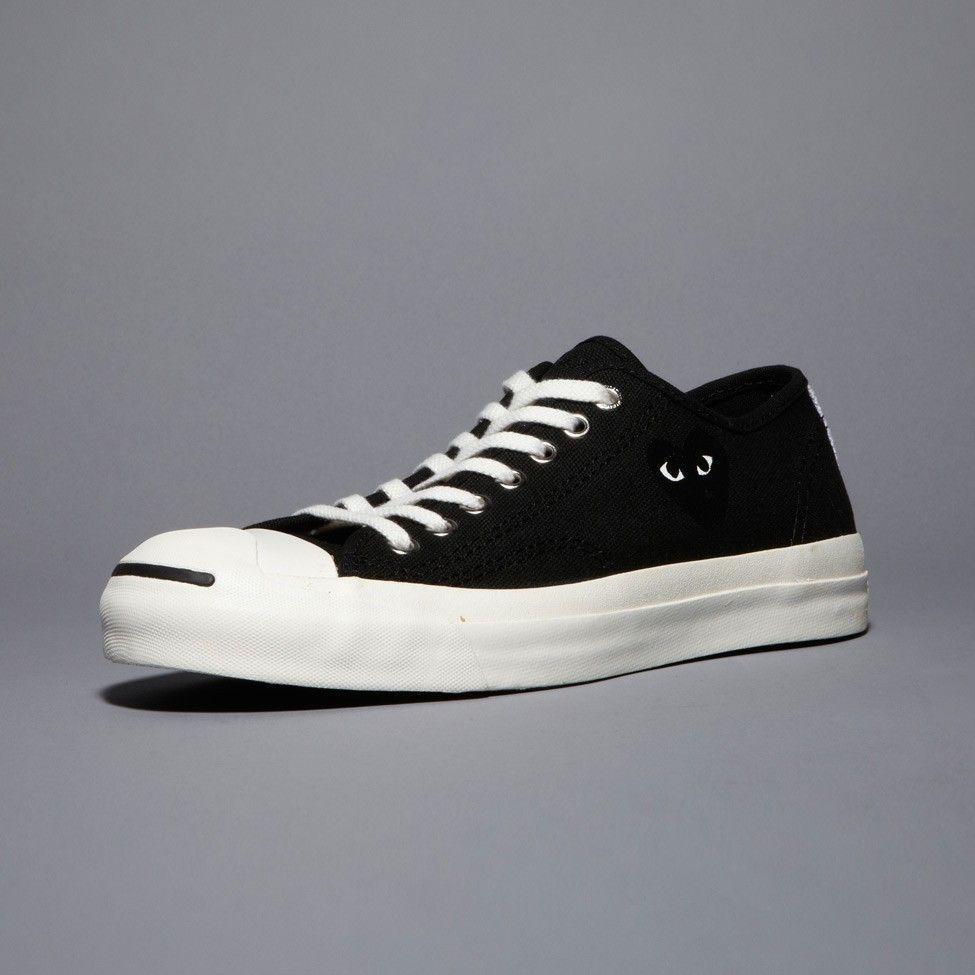 CDG PLAY Jack Purcell Black/Black Heart Comme Des Garcons Clot Shoes