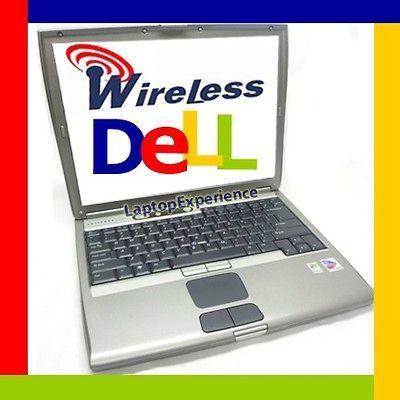 DELL LATiTUDE LAPTOP D610 NOTEBOOK WINDOWS XP DVD COMPUTER WiFi