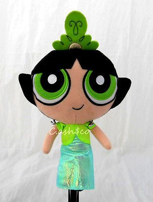 Girls plush Doll Buttercup with long dress & tiara 8 tall green