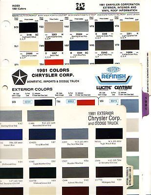 1981 CHRYSLER DODGE PLYMOUTH DODGE TRUCK PAINT CHIPS