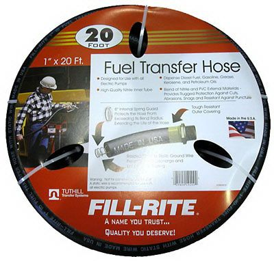 Tuthill Fill Rite FRH10020 Fuel Pump Hose 1 x 20 fits 12 Volt and AC