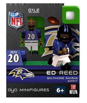 Ed Reed Oyo Mini Fig Figure Lego Compatible Baltimore Ravens NIP