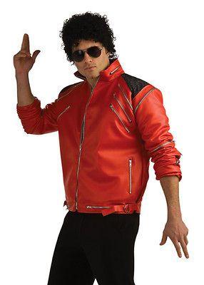 Adult Michael Jackson Costume Beat It Red Zipper Jacket