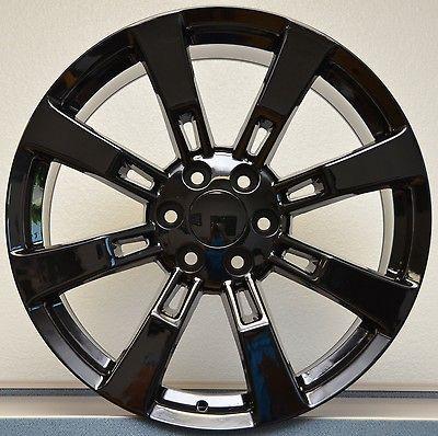 Gloss Black GMC Denali Escalade Sierra Yukon Tahoe Wheels Rims Set