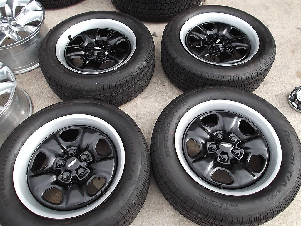 18 2010 2013 Chevy Camaro Black Steel Wheels Tires Rims BFGoodrich