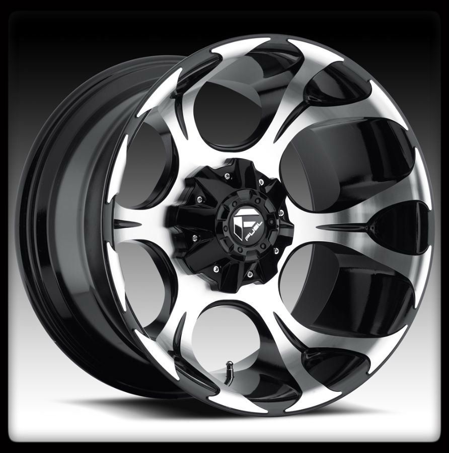 20 Fuel Dune Black Machined Wheels Rims Federal 33x12 50x20 Couragia