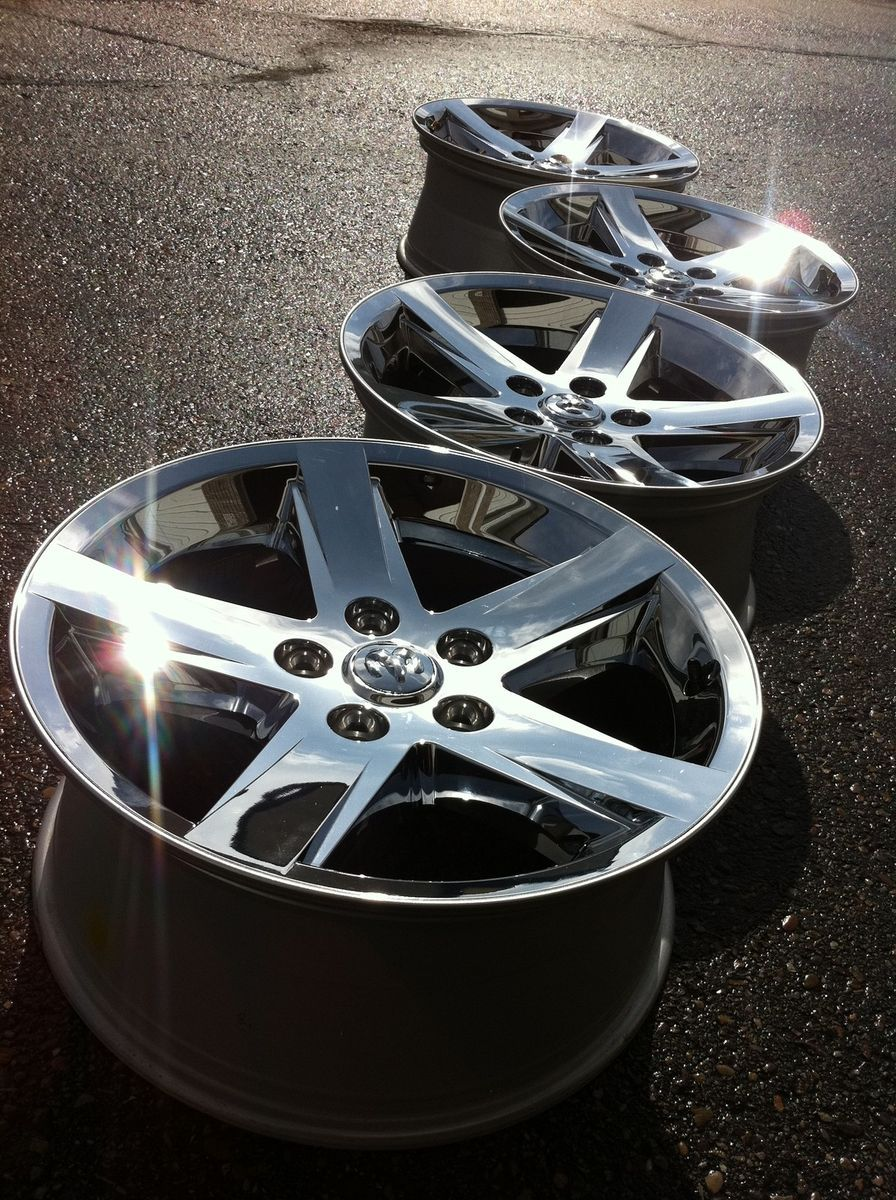2012 Dodge 1500 RAM Laramie Hemi Stock Factory 20 Chrome Wheels Rims