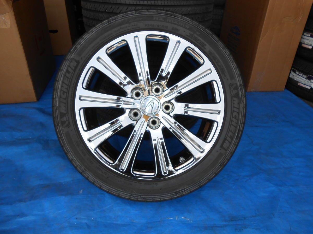 18 Acura Tl Wheels Tires 2009 Black Chrome New