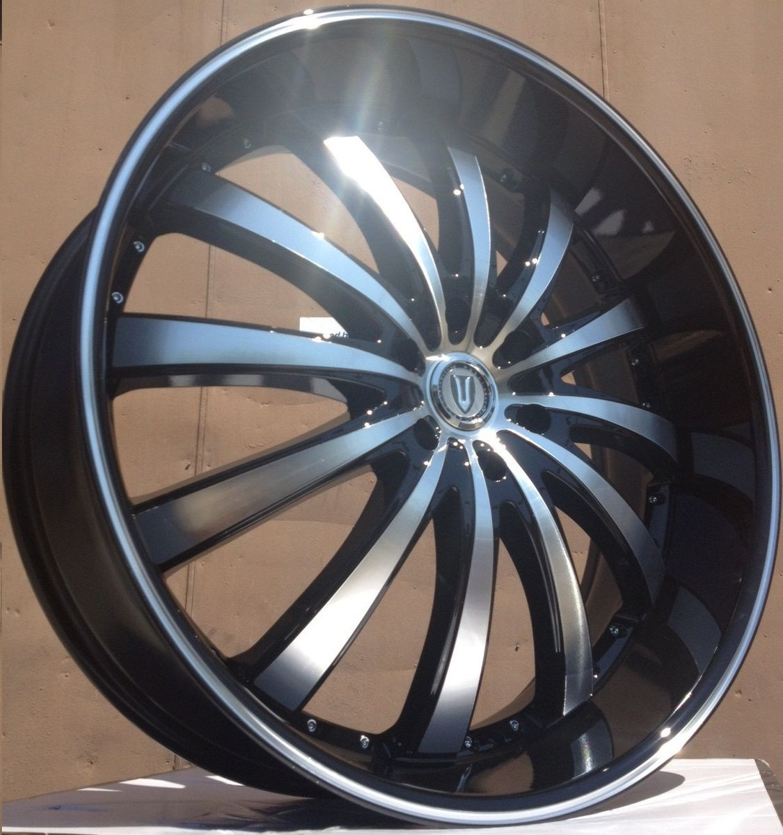Black Wheels Tires 6x139 7 Escalade 2007 2008 2009 2010 2011 12
