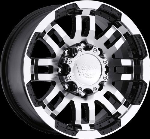 16 Vision Warrior Black Machined Wheels Rims 6x5 5 6x139 7 6 Lug
