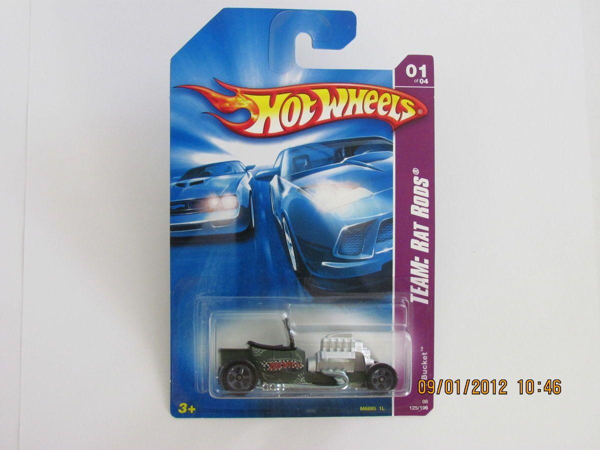 Hot Wheels 2008 T Bucket Team Rat Rods Cars NASCAR Mattel