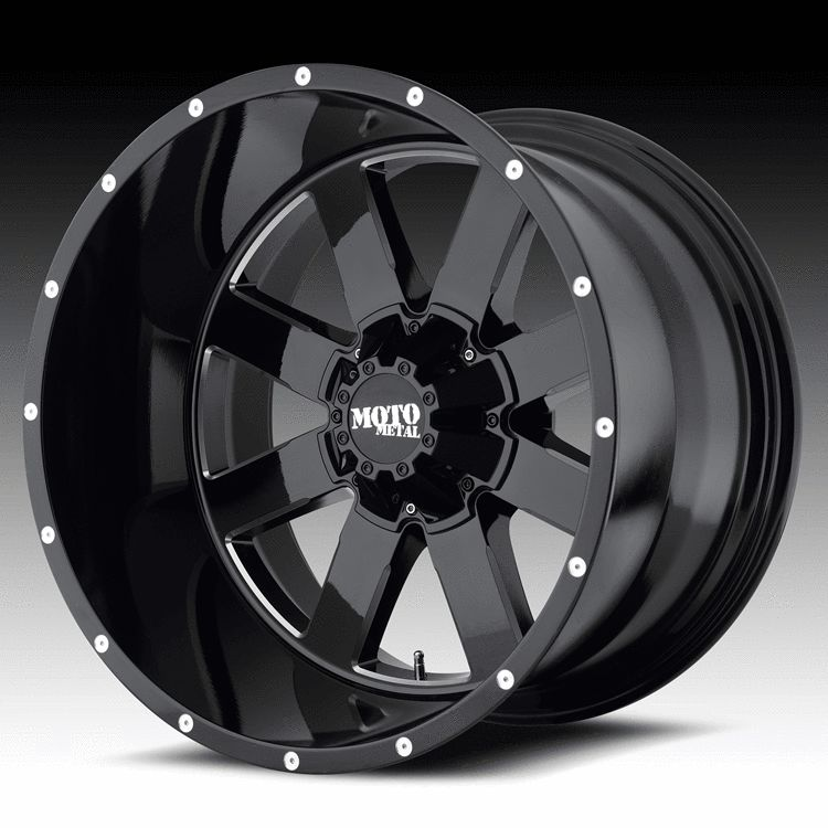22 inch 22x14 Moto Metal Black Wheels Rims 5x150 Toyota Tundra Sequoia