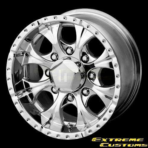 16 x10 Helo HE791 Maxx Chrome 8 Lugs Wheels Rims Free Lugs