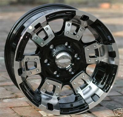 20 inch Black DIAMO 17K Wheels Rims Chevy GMC 6 Lug