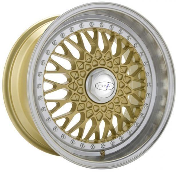 17 PRIVAT REMEMBER GOLD RIMS WHEELS 17x8 +36 5x100 COROLLA JETTA PRIUS