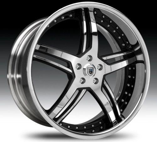 24 asanti AF162 Black Chrome Wheels Rims 3 Piece