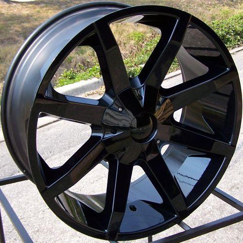 24x9 5 Black KMC Slide Wheels Rim Escalade Silverado GMC Sierra Ford