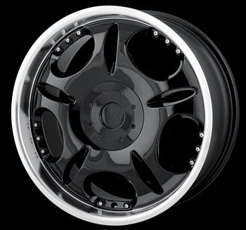 20 x8 5 DIP D19 Black Machined Wheels Rims Free Lugs