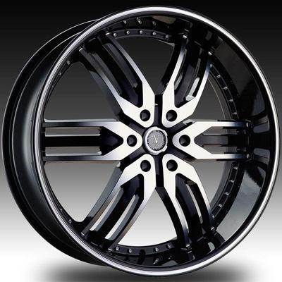 26 Velocity 125 Black Wheels Rims Tires Chevy Tahoe Saburban GMC Yukon