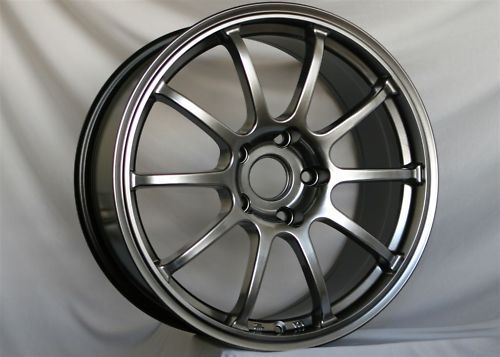 18 Rota G Force Hyper Black Rims Wheels 18x9 35 5x100 Subaru WRX