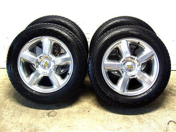 Chevy Tahoe Silverado Suburban Wheels Tires High polished 99 100 tread