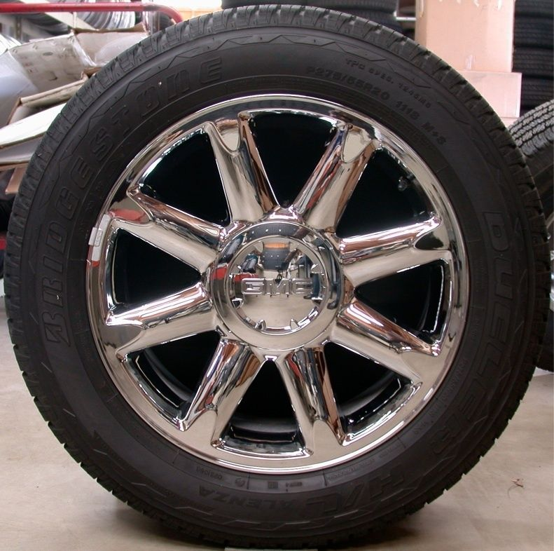 Denali Yukon XL Sierra Chrome 20 Factory OEM Wheels Rims Tires Chevy
