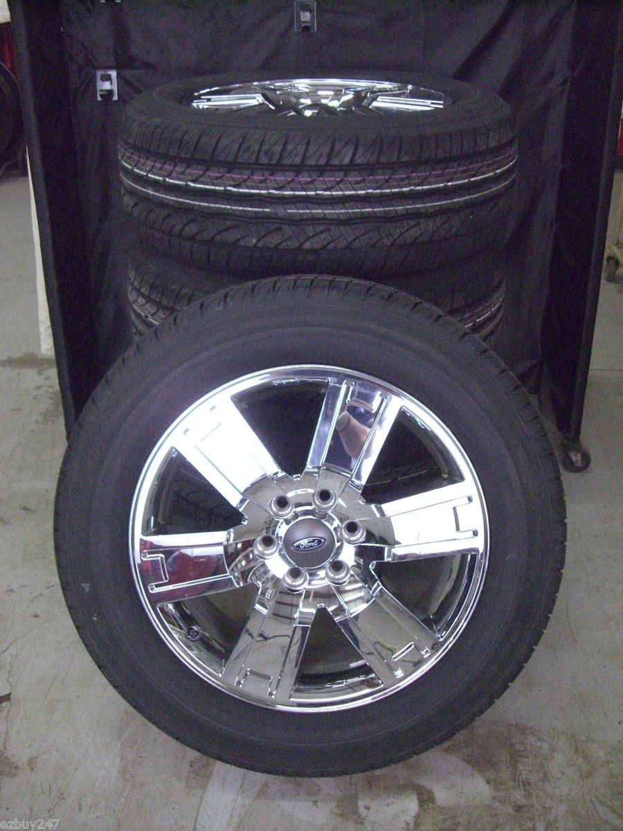 EXPEDITION F150 FACTORY STYLE CHROME WHEELS GOODYEAR TIRES 3659 NEW