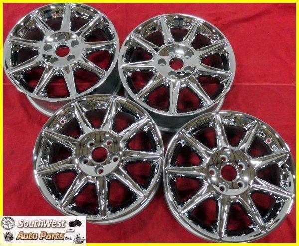 11 Cadillac DTS 17 Chrome 9 Spoke Wheels Factory Rims Set 4658