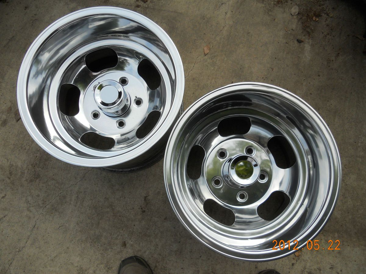JUST POLISHED 15x10 SLOT MAG WHEELS FORD TRUCK JEEP MAGS GASSER BRONCO