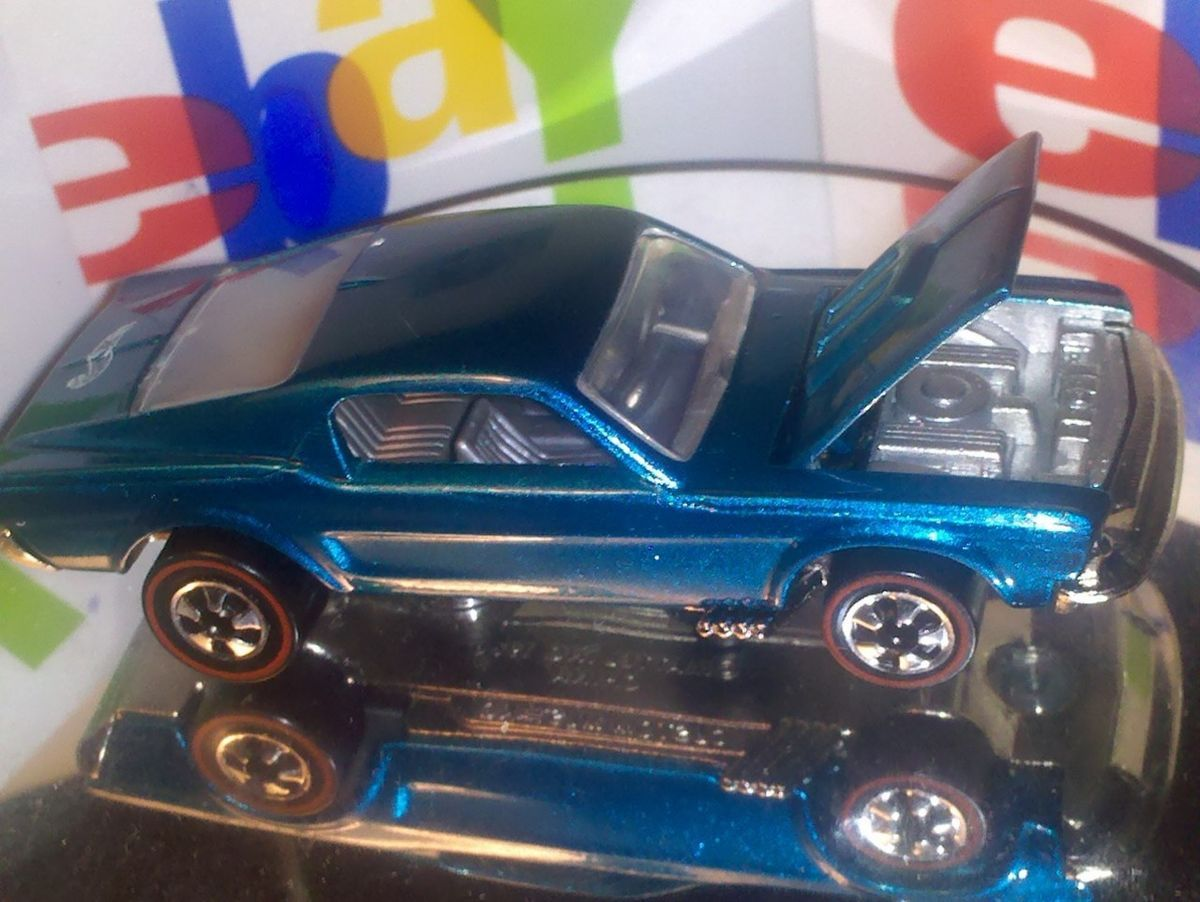 HOT WHEELS FORD CUSTOM MUSTANG 67 REDLINE VINTAGE 8 CAR TRU SET HUNT