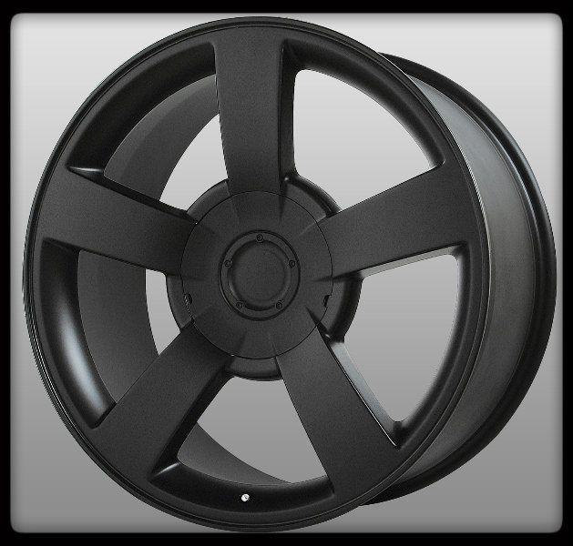 Replicas V1130 Silverado SS Escalade Matte Black Wheels Rims