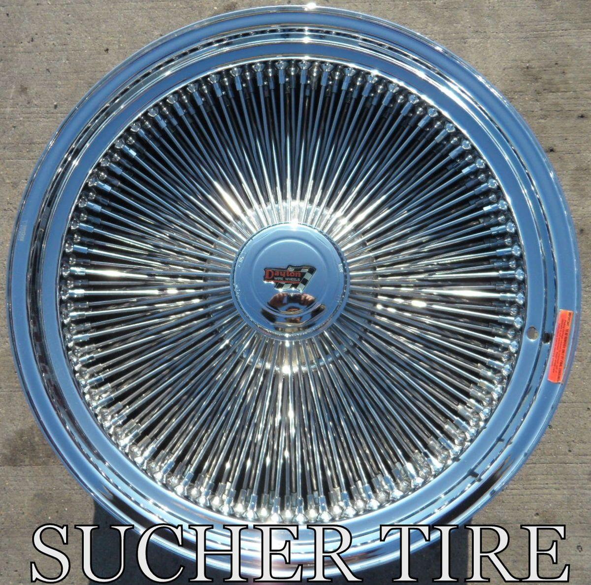 Dayton Wire Wheels 22 OTD 180 Spoke Chrome Wire Wheels Rims One Ton