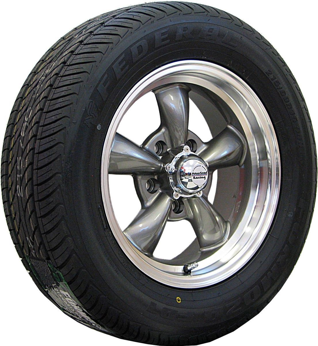 15 Gray Rev Classic 100 Wheels Rims Tires Ford Mustang 1965 1966 1967
