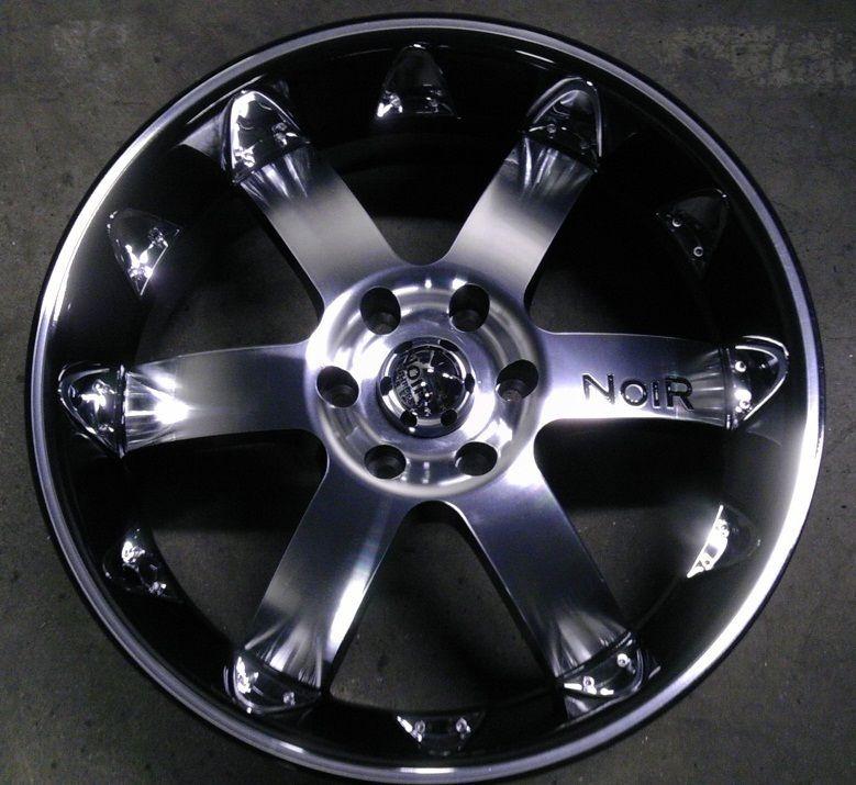 20 inch 6x127 Black Chrome Insert Wheels Rims 6 Lug GMC Envoy Chevy