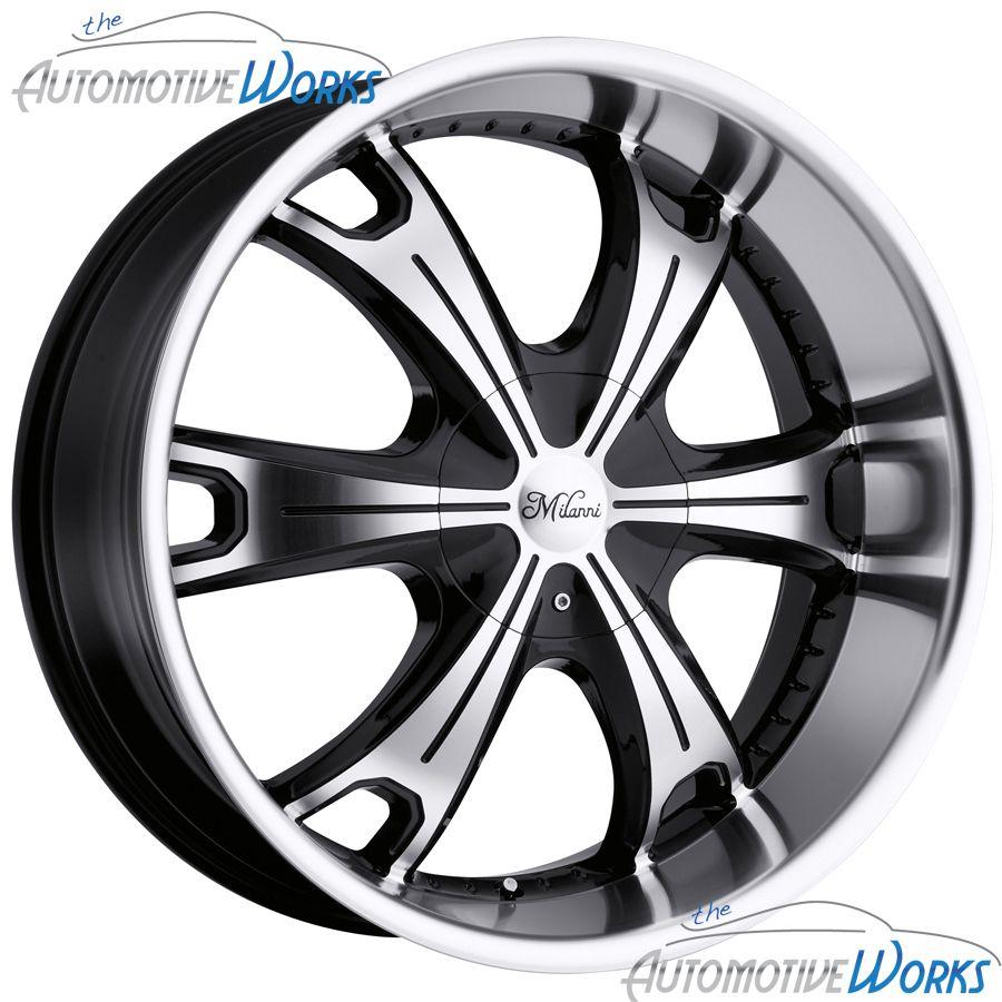 Milanni Stellar 6x135 6x139 7 6x5 5 30mm Black Machined Wheels Rims 22